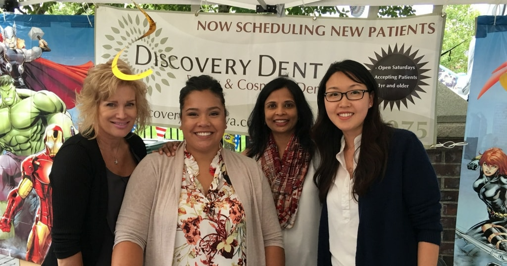 The team at Discovery Dental at the Issaquah Highlands Day booth