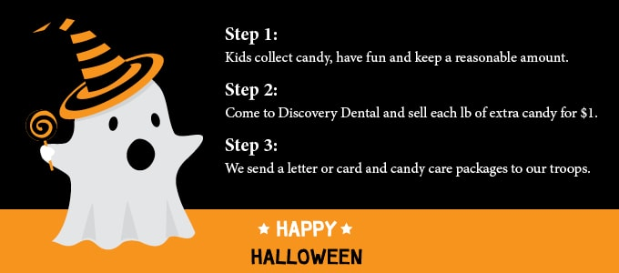 How the Discovery Dental Halloween Candy Buy-Back works