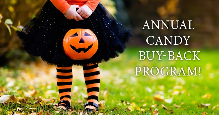 Join our Issaquah Highlands Dentistry Halloween Candy Buy Back Event