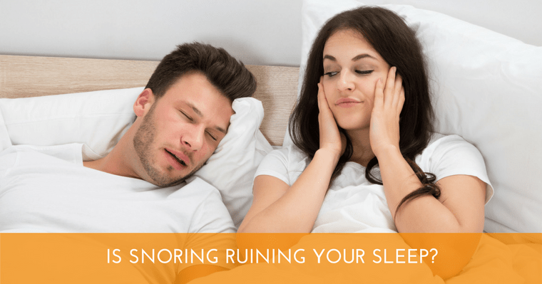 Snoring can be a symptom of sleep apnea