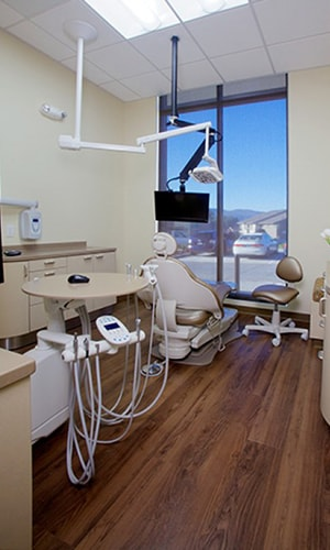The exam room at Discovery Dental