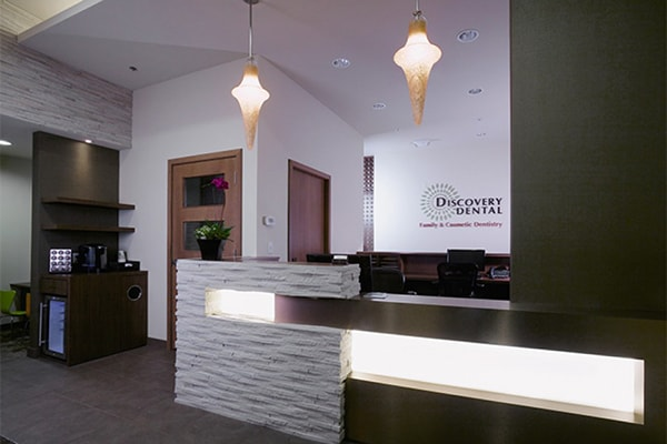 Office tour of Discovery Dental. Here is the entrance of Discovery Dental