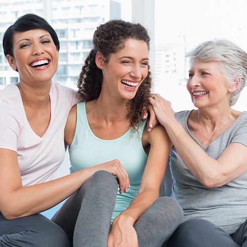 Smiling women after metal-free fillings