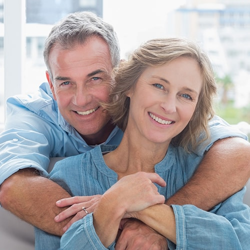 Smiling couple to represent dentures at our Issaquah dental practice